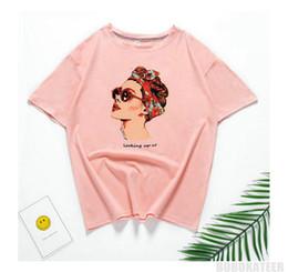 Vente en gros Vogue Casual Drôle T-shirt Femme Tops En Coton Eté T-shirt Femme T-shirt Rose Tee Shirt Femme Camiseta Feminina 2018