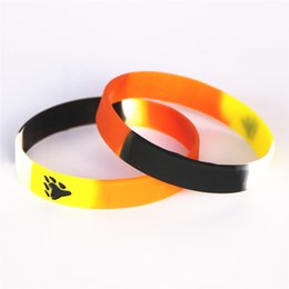 $enCountryForm.capitalKeyWord NZ - Hot Sale 50PCS Color Printed Logo Bear Pride Silicone Wristband Silicone racelets&Bangles Gift Jewelry Wholesale SH092