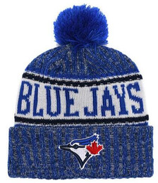 717b7857cd5 Top Selling Blue Jays beanie beanies Sideline Cold Weather Reverse Sport  Cuffed Knit Hat with Pom Winer Skull Caps