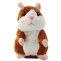 Children eduCational online shopping - Talking Hamster Mouse Plush Pets Cute Warm Speak Speak Sound Record Hamster Educational Toys for Children Gift