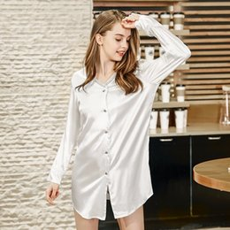 615b9b54ef Sexy Spinning Australia - spinning silk sexy lady nightdress summer silk  shirt feminine pajamas home clothes