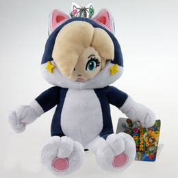 "Mario Rosalina Plush Toys UK - 2018 New Super Mario World Cat Princess Peach Rosalina Soft Plush Toy 7"" 18cm Kid Gift"