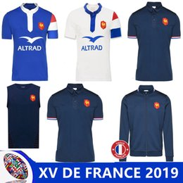 fb880522d2c 2019 XV DE FRANCE HOME RUGBY JERSEY 18 19 XV DE FRANCE SUPPORTER 2018  France Rugby Maillot de Foot French BOLN Rugby size S-M-L-XL-3XL
