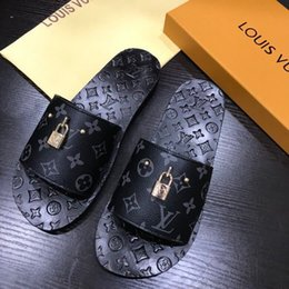 Printed Dress Elastic NZ - New spring and summer print lock slippers 0084 guan Men Dress Shoes BOOTS LOAFERS DRIVERS BUCKLES SNEAKERS SANDALS