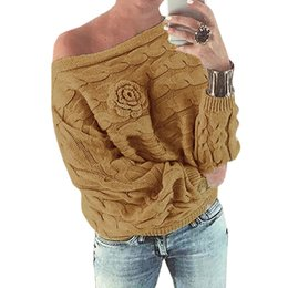 bb91d69730 GCAROL Women Sexy New One Shoulder Knitted Twist Sweater Autumn Winter  Pullover Elegant Oversize Tops Knitwear Jumper For Ladies