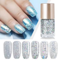 NICOLE DIARY 9ml smalto per unghie con base olografica in argento per unghie lacca per manicure Suggerimenti per manicure lucido scintillio per smalto 6 colori in Offerta