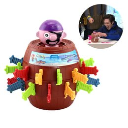 Discount pirate game children - 2018 Funny Novelty Kids Children Funny Lucky Game Gadget Jokes Tricky Pirate Barrel Game for Boy and Girl Gift Cute Kids
