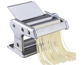 Großhandel Edelstahl gewöhnliche 2 Klingen Nudelmaschine Manuelle Nudelmaschine Handbetriebene Spaghetti Nudelschneider Nudel Kleiderbügel LLFA