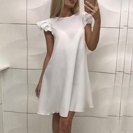 b6a5f5358287 Fashion Casual Cute Women Dress Loose Solid Short Sleeve Beach Party Dress  Summer Above Knee Mini Dress GI264 cute bohemian short dresses on sale
