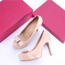 ca23ccc2cd3e Classic Hot Sales Nude Patent Leather High Heels Women Pumps
