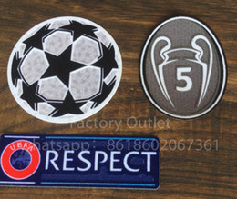 b2aa7c05574 Soccer acceSSorieS online shopping - Top quality Champion League patch  soccer patches football ucl respect patch