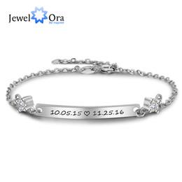 Personalized Bracelets Australia - Personalized Gift ID Braceles With Cubic Zirconia Customize Engrave Name Bracelets & Bangles For Women (JewelOra BA102098)