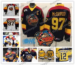 $enCountryForm.capitalKeyWord Canada - Erie Otters Custom Any Number Any Name Good Quality Stitched Navy Blue Yellow White OHL #97 Connor McDavid Hockey Jerseys