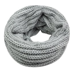 Cowl Snood Scarf Australia - - Lady Winter knitting Circle Cowl Crochet Snood Tube Neck Loop Warmer Scarf Shawl