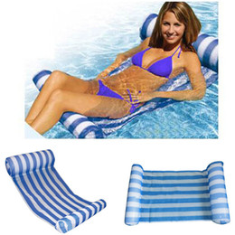 $enCountryForm.capitalKeyWord NZ - Stripe Swimming Pool Floats Air Mattress Inflatable Sleeping Bed Water Hammock Lounger Chair Float Swimming Pool Accessories