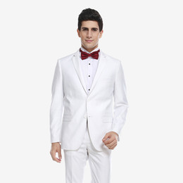 0d1eecae6b3936 Custom Made Vintage White Men Suits for Wedding Suits Notched Lapel Sim Fit  Groom Tuxedos Tailored Best Man Blazers 2 Pieces Jacket Pants