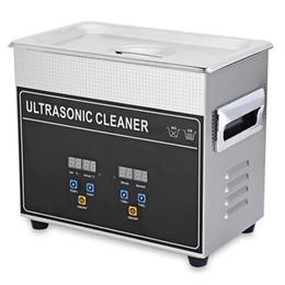Портативный мини цифровой ультразвуковой очиститель машина с нагревателем таймер очистки ювелирных изделий ложные зуб бритвы 3.2 л ультразвуковой очиститель ванна горячая NB