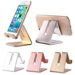 desk book holder 2019 - Universal Aluminum Metal Mobile Phone Tablet Holder Desk Stand for iPhone X 8 7 iPad Samsung S8 S9 Plus Huawei XiaoMi E-