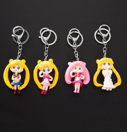 Japanese anime girl figures online shopping - keychain Twinkle Dolly Sailor Moon Keychain Cute Version Action Figure Pendant Japanese Anime Keychain Toys Gifts