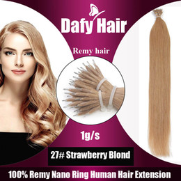 """Discount peruvian remy hair styles - Nano-tip Remy Human Hair Extensions Straight Style Brazilian Indian Peruvian Malaysian 12""""-28"""" 100g 100s 1g s"""