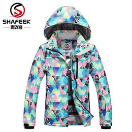 snowboard ski jackets 2019 - Wholesale- SHAFEEK Women Ski Jacket Outdoor Winter Ski Suit Womens Waterproof Windproof Snowboard Coat discount snowboar