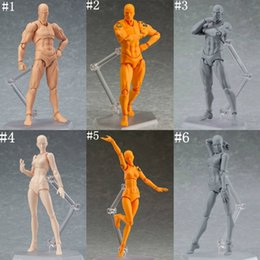 Female toy dolls online shopping - 6 style SHF Figma Man Female Skin Color Archetype Ferrite Figma Movable Figma pvc Action Figure Model Toys Doll for Collectible MMA558