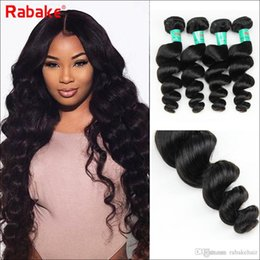 cheap remy hair extensions 2019 - Peruvian Loose Wave Virgin Hair Weave Bundles Deals Rabake 8A Loose Wave Brazilian Malaysian Indian Remy Human Hair Exte