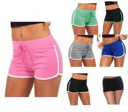 Yoga Pants Colors Canada - Women Yoga Sports Shorts Summer Cotton Gym Drawstring Short Pants Leisure Homewear Fitness Beach Shorts Running Pants Leggings 7 Colors Hot