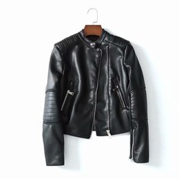 0716fe707bba2 2018 Autumn Women Fashion Chamarras De Cuero Para Mujeres Womens Leather  Jackets and Coats Plus Size XY2343