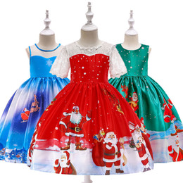 991effed831 Deer Dresses online shopping - Xmas Baby girls Christmas deer elk print  dress Children Santa Claus