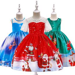 329aa670dc2 Santa dreSSeS babieS online shopping - Xmas Baby girls Christmas deer elk  print dress Children Santa