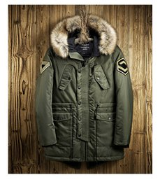 Parka 3xl NZ - Icpans Mens Parka Jackets Fur Hood Casual Male Cotton Long Parka Winter Men Jacket Green Blue Warm Clothing Large Size 3XL