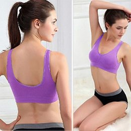 $enCountryForm.capitalKeyWord Australia - Hot Sell Women Soft Sports Bra Yoga Fitness Stretch Workout Tank Top Seamless Padded Bra Higt Quality ship from USA
