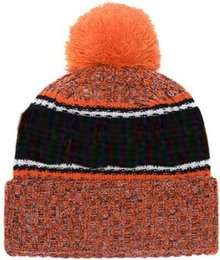 Sports Teams Logos NZ - 2019 Autumn Winter hat Sports Hats Custom Knitted Cap with Team Logo Sideline Cold Weather Knit hat Soft Warm Bengals Beanie Skull Cap