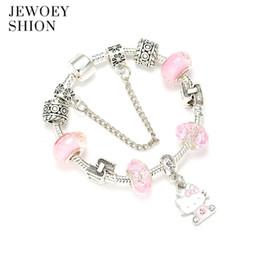 c956a7de5 hello kitty bracelet charms 2019 - JEWOEY SHION Children Fashion Cartoon  Jewelry Cute Hello Kitty Pendant