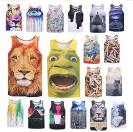 $enCountryForm.capitalKeyWord Canada - 2018 Women men's 3D Print Vest Animal Cartoon printed Summer Tank T shirt Top Novelty O-neck Couple's t-shirts hiphop fashion street wear