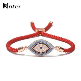 Luxus Evil Eye Micro Kristall Armband Roten Faden String Türkei Ethnische Armband Für Frauen Mädchen Hand Glück Türkische Schmuck