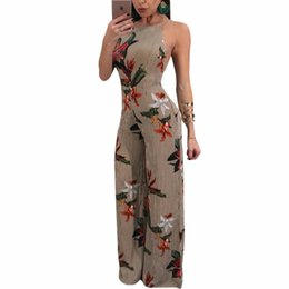 $enCountryForm.capitalKeyWord NZ - Sexy Women Jumspuits Halter O-Neck Backless Women Pants 5 Size S-XXL Long Jumpsuits Rompers 2018 Su Sexy Playsuit