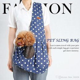 Cloth Bouquet Australia - New High Quality Canvas Small Pet Sling Carrier Shoulder Bag All Seasons Outdoor Traveling Dog Cat Backpacks Pet SuppliesII-073