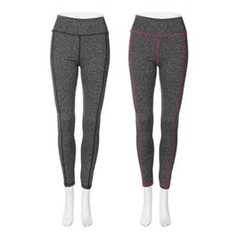 Color Yoga Pants UK - Women's Gray High Waist Quick Dry Sports Running Yoga Leggings Pants In Stock Well Sell Hot