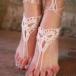 $enCountryForm.capitalKeyWord Australia - Hand Crochet barefoot sandals, Ivory beach wedding sandals, Bridesmaids Gifts, Bridal, Bridesmaids, Summer, Beach, Shower Favors..