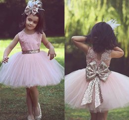 kids girl evening dress Canada - Short Girls Pageant Dresses Ball Gown Lace Appliques Tulle Mini Tutu Skirt Elegant Flower Girl Dresses for Weddings Kids Evening Gowns