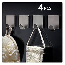$enCountryForm.capitalKeyWord Australia - Stainless Steel Self Adhesive Hooks Key Rack Garage Storage Organizer Stick On Sticky Bathroom Kitchen Towel Hanger Wall Mount Contemporary
