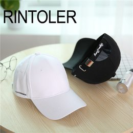 4481085083f 2018 Fashion Summer Outdoor Snapback Adjustable Side Small Letter Cap  Casual Wild Sunshade Curved Baseball Cap