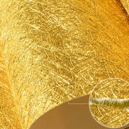 embossed foil paper 2019 - 3D Stereoscopic Relief Gold Foil Wallpaper For Living Room Bedroom Ceiling Luxury Gold Silver Glitter Wallpaper Wall Cov