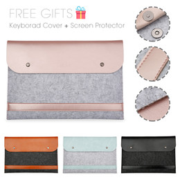 Macbook Retina 13 Inches Australia - New Notebook Liner Leather Sleeve Bag Case For Apple Macbook Air Pro Retina 11 12 13 15 Laptop For Mac book 13.3 inch