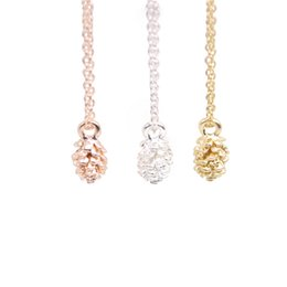 China Fashion pinecone ball pendant necklaces Three dimensional pinecone fruit necklaces Lovely women plant seeds necklaces for gift supplier pinecone pendant suppliers