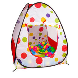 outdoor pop up tents kids NZ - Children Kids Play Tents Outdoor Garden Folding Portable Toy Beach Game Tents Indoor Outdoor Pop Up Multicolor Independent House Ball Pool