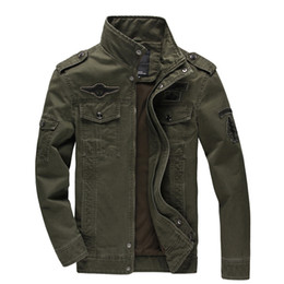0369519c130 New 2018 Casual Army Military Jacket Men Plus Size M-6XL Jaqueta Masculina  Air Force One Spring   Autumn Cargo Mens Jackets Coat