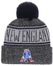 2019 American City All Team Patriots Beanies Sports Pom Hat Men Women  Sideline Cold Weather Reverse Knit Hat Official Graphite Black Caps fda0c3d41